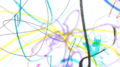 Childrens Drawing Texture stock footage