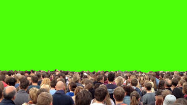 Concert Crowd Dancing Green Screen stock footage