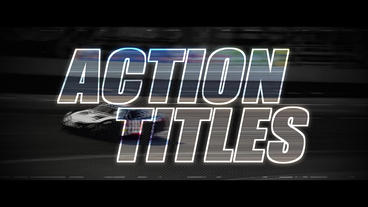 Action Titles - After Effects Template After Effects Project