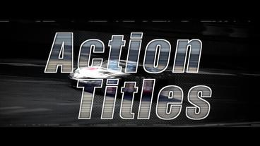 Action Titles - Apple Motion and Final Cut Pro X Template Plantilla de Apple Motion