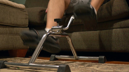 Leg Rehab At Home stock footage