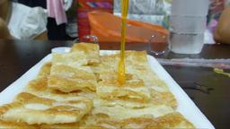 Roti Gluay, a favourite street food in Chiangmai,  Footage