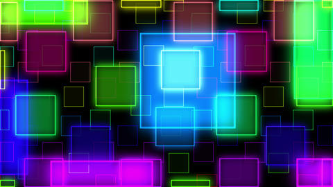Simple background Square L 2 neon 4k Animation
