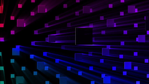 Simple background Square S 2 neon 4k Animation