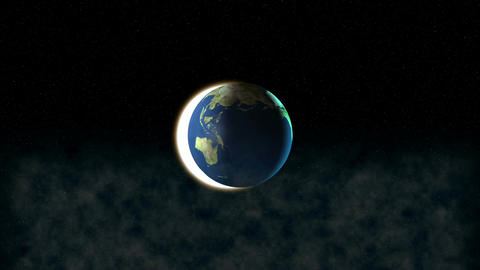 Earth in space Animation