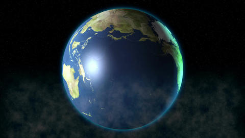Earth zoom in Animation