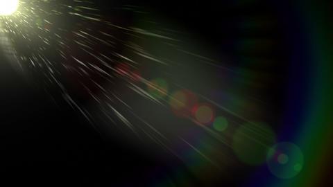 Lens Flares on Black 2 Footage