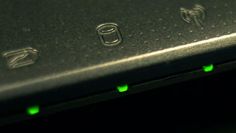 hard drive light 01 macro Footage