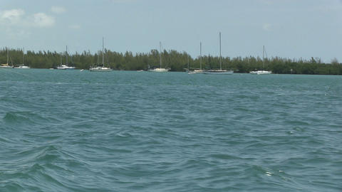 Sailboats Near Key West stock footage