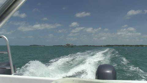 Motorboat leaves Key West Footage