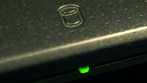 Hard Drive Light 02 Macro stock footage