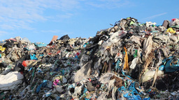Garbage mountain - garbage dump, landfill 2 Footage