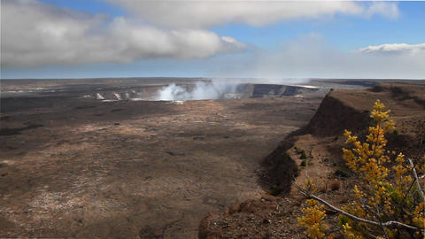 Kilauea Crater Time Lapse stock footage