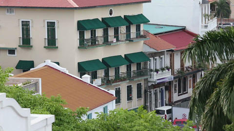 House of Casco Viejo in Panama City Footage