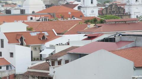 Aerial view of Casco Viejo Panama Footage
