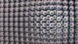 Wall of eyeballs Animation