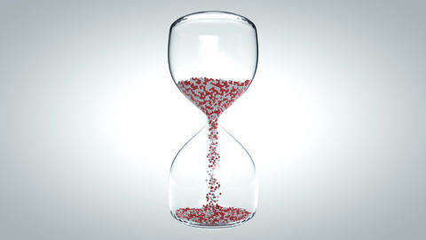 Hourglass stock footage
