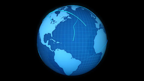 Globe Lines stock footage