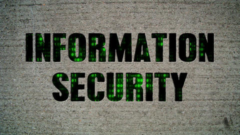 Information Security Binary Code Crumbling Wall Stock Video Footage