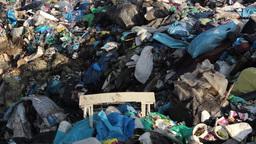 Garbage dump. Non biodegradable garbage at landfil Footage