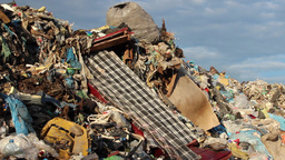 Garbage mountain - garbage dump, landfill 3 Footage