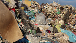 Garbage mountain - garbage dump, landfill 5 Footage
