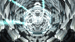 Cube Tunnel with pulsing lights Animation