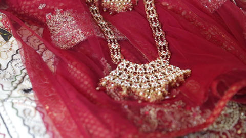 Indian Jewelry Indian Cloths stock footage