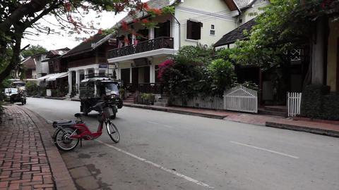 Tuk Tuk In Luang Prabang 1 stock footage