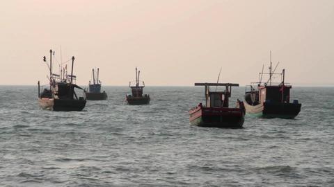 Fishing ship Footage
