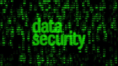 Binary Code Wall Data Security Animation