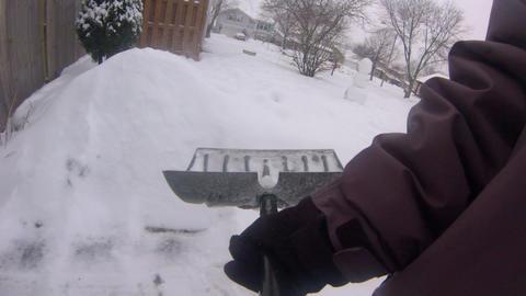 Shoveling Snow POV Live Action