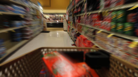 Filling Shopping Cart stock footage