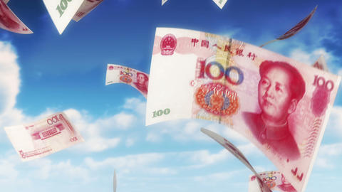 Money from Heaven - CNY - RMB (Loop) Animation