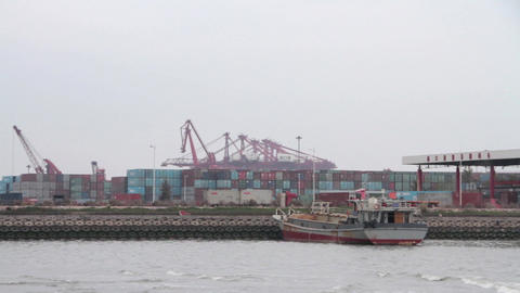 Haikou Xiuying Port stock footage