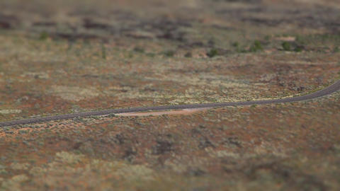 Desert Canyon Running Tilt Shift stock footage