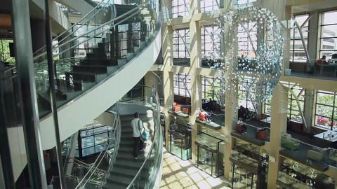 Salt Lake City library inside elevator Live Action