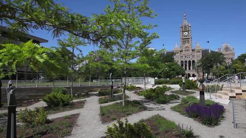 Salt Lake City library path 2 Footage