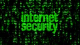 Binary Code Wall Internet Security Animation