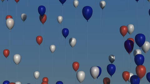 Red, White and Blue Balloons Animation