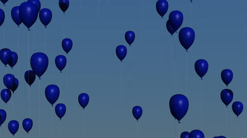 Blue Balloons Animation