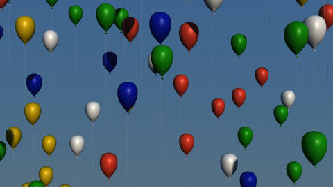 Multicolored Balloons Animation