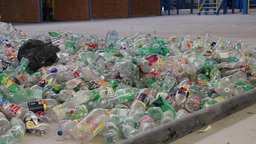 Recycling - plastic bottles at recycling center 2 Live Action