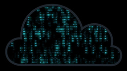 Digital Cloud With Binary Matrix stock footage