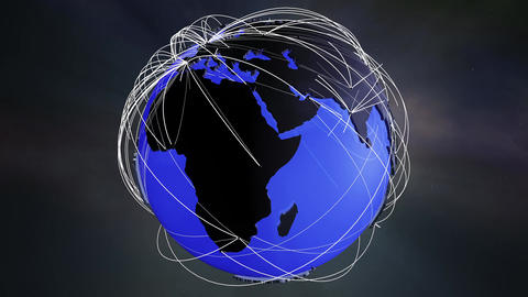 4 K Network Connections Globe v 5 1 Animation