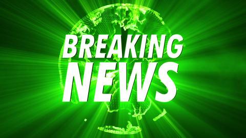 4K Shining Globe Breaking News 2 Animation