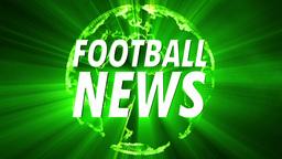 4 K Shining Globe Football News 2 Footage