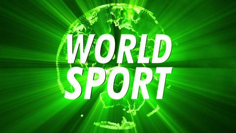 4K Shining Globe World Sport 2 Animation