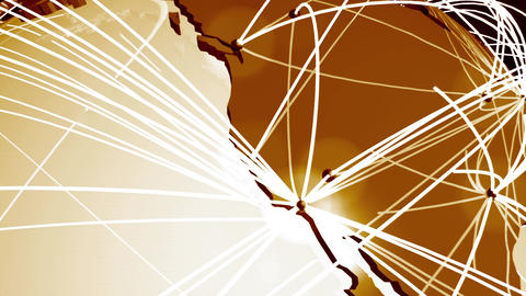 Network Connections Globe V 1 2 stock footage