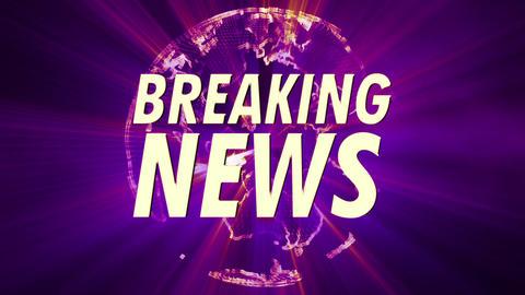 4K Shining Globe Breaking News 4 Animation